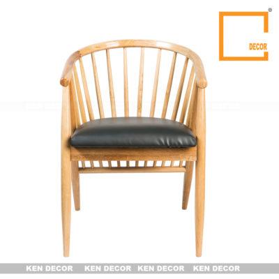 ghế gỗ nhà hàng kendecor GO01