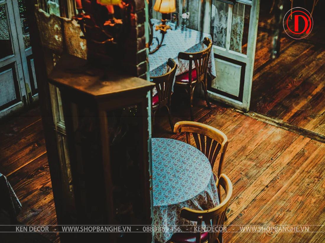 bàn gỗ cafe