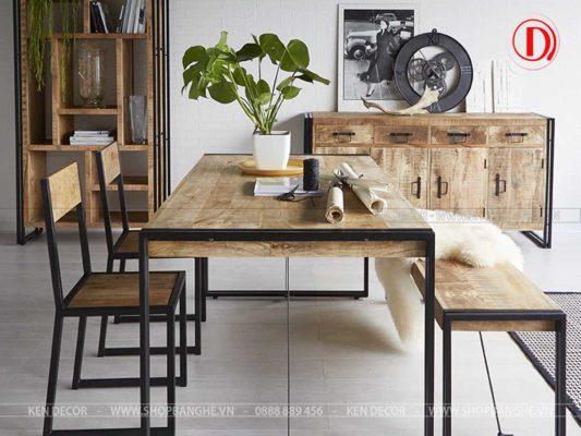 bàn ghế nhà hàng chân sắt