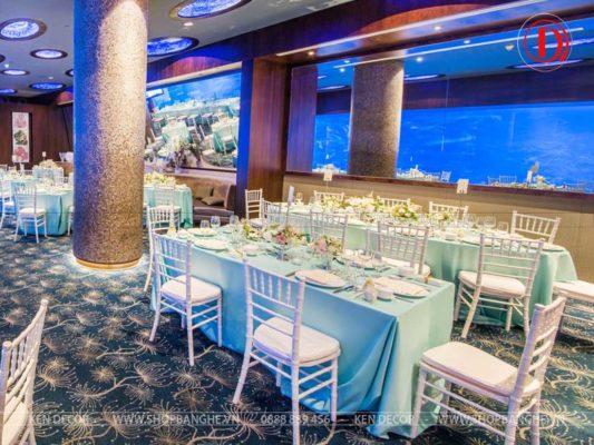 bàn ghế nhà hàng tiệc cưới