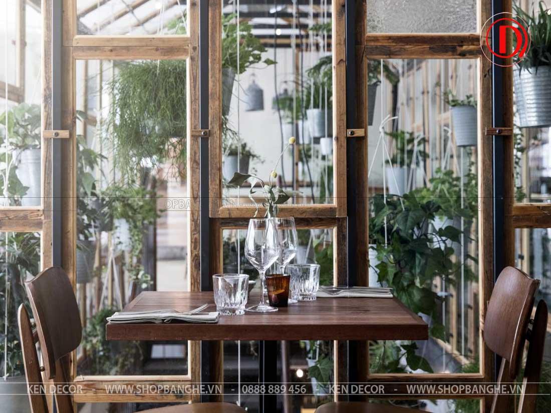 bàn ghế quán cafe sang trọng