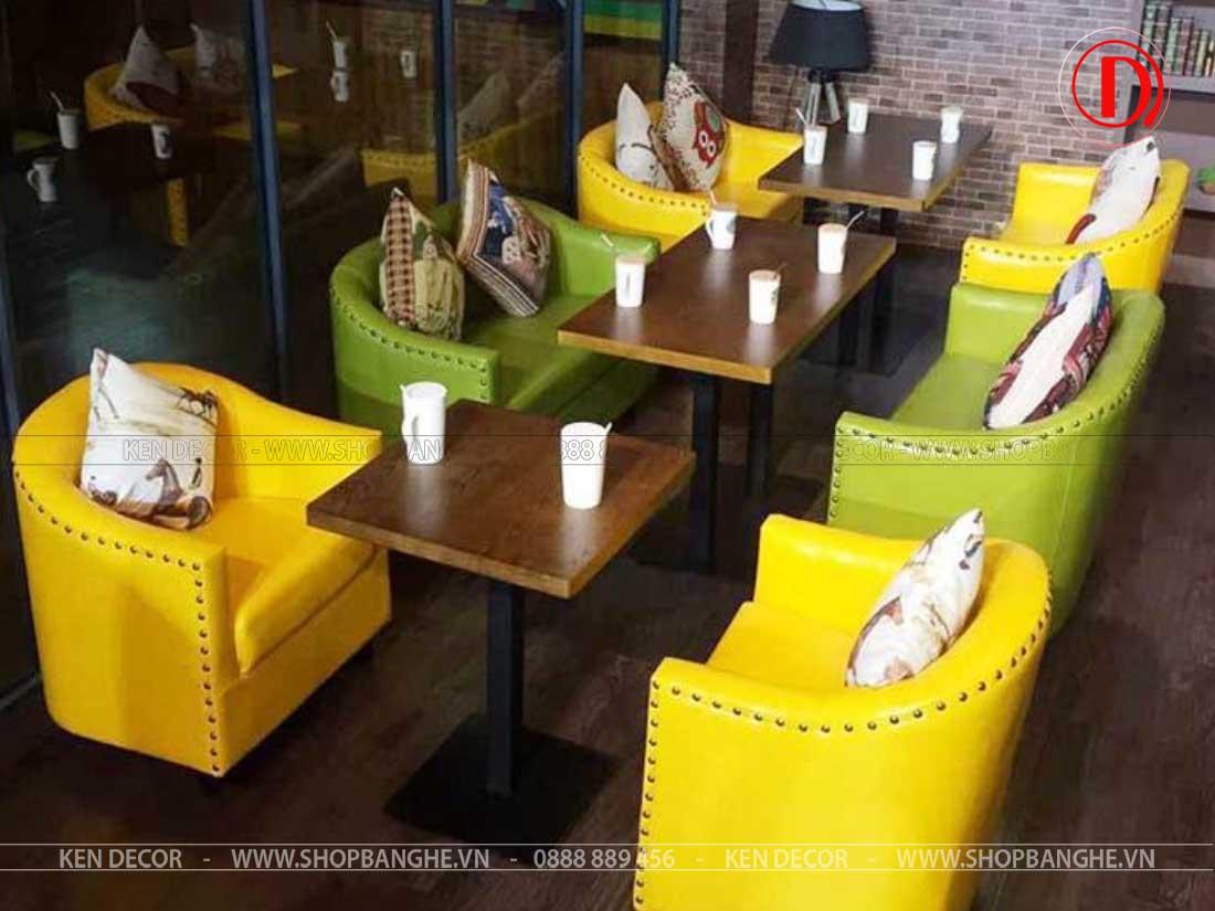 ghế cafe bọc da