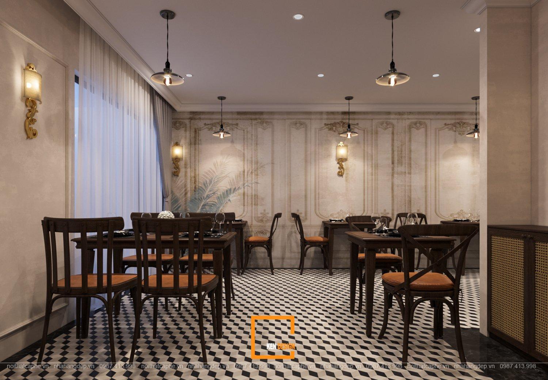 thiết kế nhà hàng phong cách Pháp
