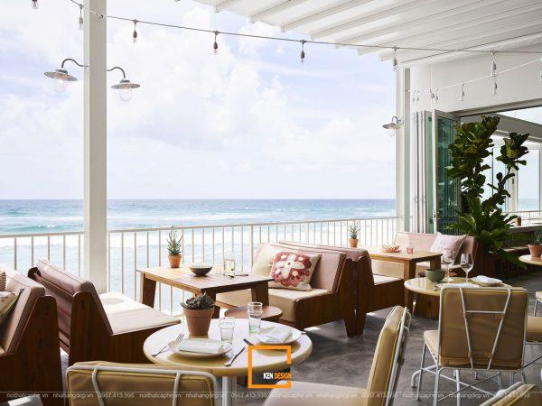 quán cà phê ven biển có tầm nhìn đẹp