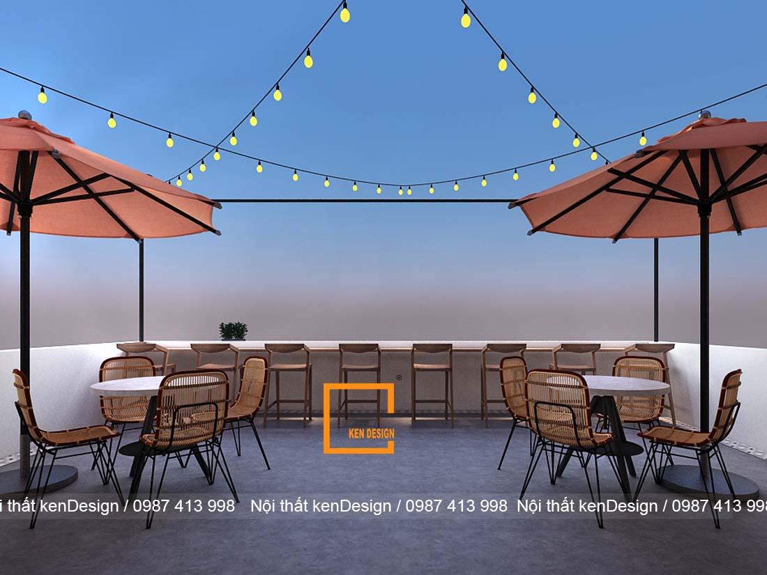 decor của quán cà phê ven biển