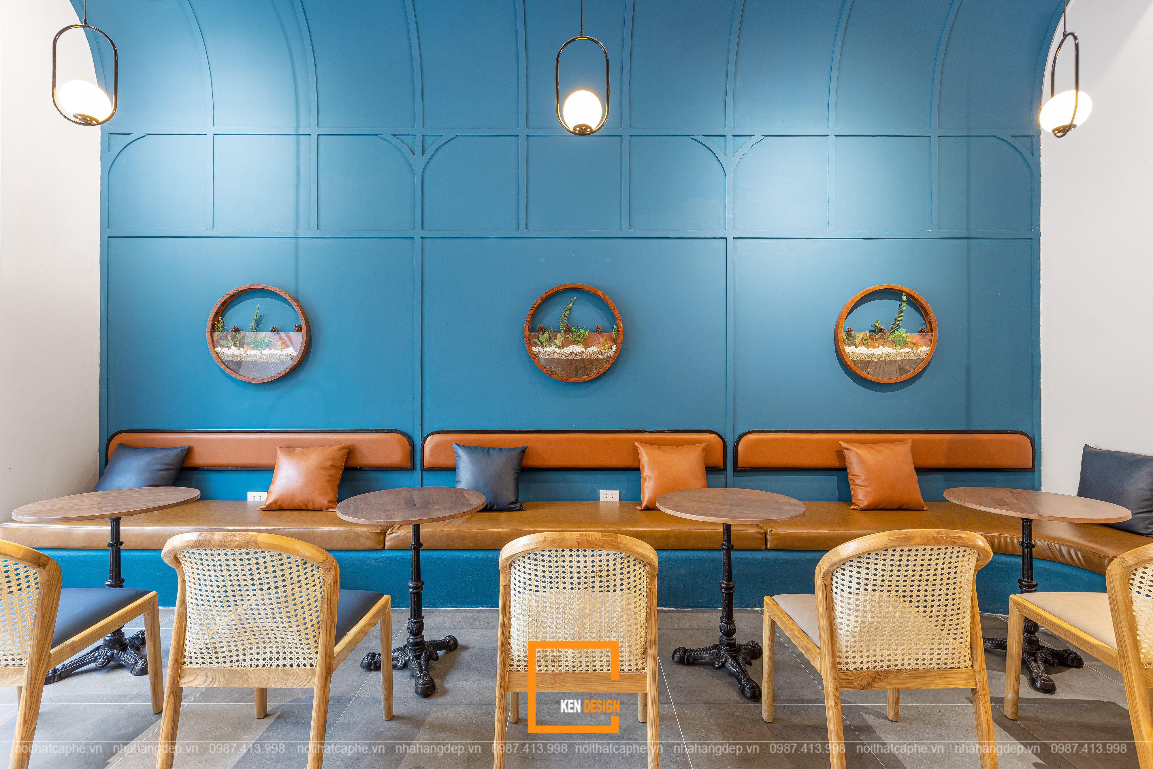 mẫu quán cafe nhà ống