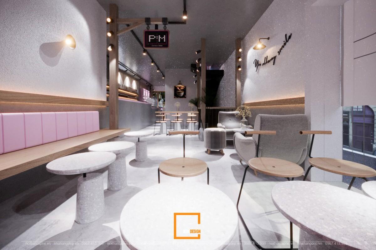 thiết kế bàn ghế quán cafe Le Petit Moment